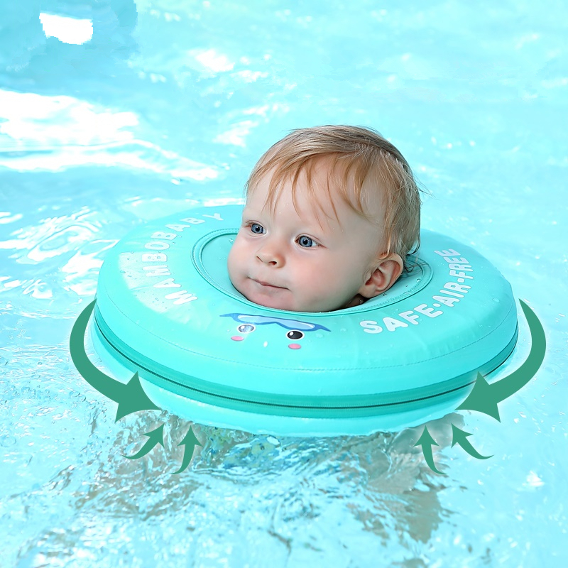 Solid Non-inflatable Baby Infant Swim Floating Neck Ring Swimming Float For Accessories Baby Swimming Pool Toys Swim Trainer