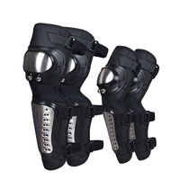 1 pair knee pads & 1 pair elbow pads Motorcycle long knee Pad elbow guard cycling racing steel riding protective gear Protector
