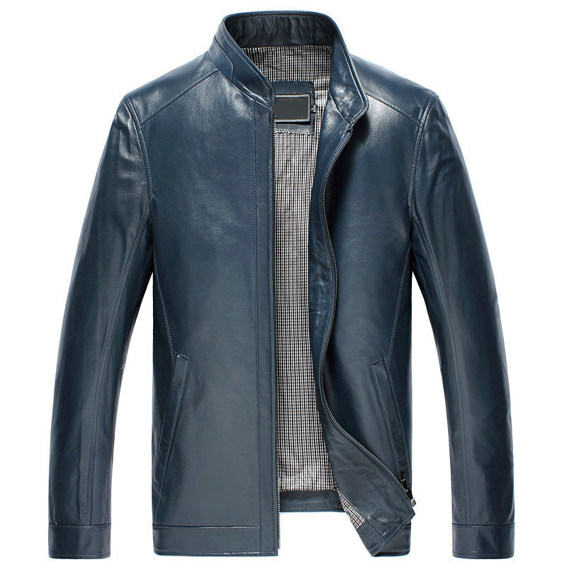 Men's Leather Jacket Autumn Winter Jacket Men Genuine Sheepskin Coat Plus Size Jackets 4xl 5xl Chaqueta Mujer MY1575