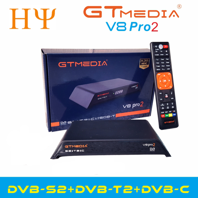 Gtmedia V8 Pro2 DVB-S/S2/S2X,DVB+T/T2/Cable(J83.A/B/C)/ISDBT Bulit In WIFI Support Full PowerVu, DRE &Biss Key