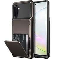 Custodia porta carte di credito per portafogli per armatura per Samsung Galaxy S21 S20 Ultra S20 FE Note 20 Ultra 9 10Pro S8S9 S10 Plus S10E Cover