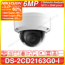 Hikvision Original 6mp IP Camera DS 2CD2163G0 I MINI Dome Network Camera SD Card Slot Support Face Detection CCTV Camera