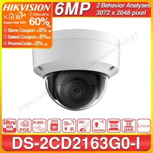 Image 1 - Hikvision Original 6mp IP Camera DS 2CD2163G0 I MINI Dome Network Camera SD Card Slot Support Face Detection CCTV Camera