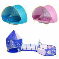 Multicolor bebé tienda para niños plegable juguete de los niños de plástico Casa de plástico juego de piscina de bolinha jugar tienda inflable yarda piscina de BOLAS