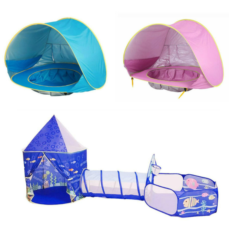 Tienda de bebé multicolor para niños de juguete plegable niños Juego de Casa de plástico piscina de bolinha juego de tienda inflable