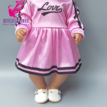 Fits for 43cm  baby dolls Cheerleaders pink dress 18 inch girl sport short