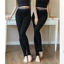 Women Warm Pants Winter Thick Solid Leggings Female Under Thermal Underwear Bottoms Inside Wear