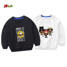 cool kids sweatshirts boys guns roses Casual Outwear Cartoon Toddler Baby Clothing Girls Sweatshirts Children 2019 Autumn top