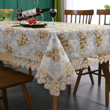 Luxury Table-Cloth Lace Embroidery Table Cloth for Home Hotel Wedding Banquet Party Table Cloths Furniture Cover Home Dust Cover