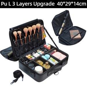 Image 2 - Sac de rangement de grande capacité de voyage pour organisateur de maquillage professionnel vide, nouveauté 2017