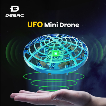 Holy Stone UFO Mini Drone Hand Operated Fly Anti Collision Quadcopter Upgraded 360 Drone Flight UFO Toys For Kids Helicopter 1