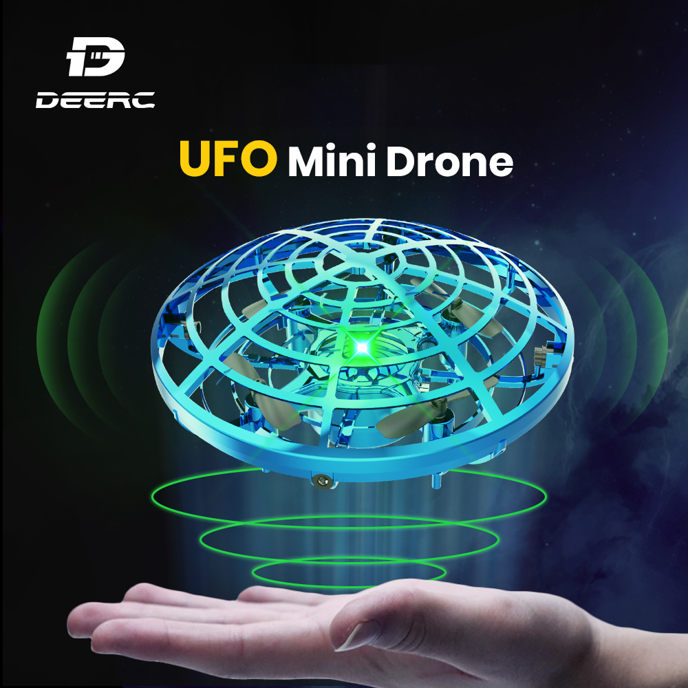 Holy Stone UFO Mini Drone Hand Operated Fly Anti Collision Quadcopter Upgraded 360 Drone Flight UFO Toys For Kids Helicopter
