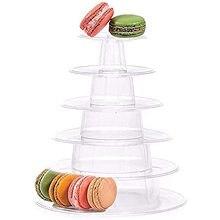 6 camadas macaron torre expositor clear round macaron prateleira de exibição rack bolo de plástico sobremesa suporte para festa de aniversário de casamento
