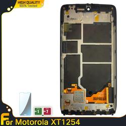 Original For Motorola MOTO Droid Turbo XT1254 Touch Screen Replacement With Frame For Moto Maxx Screen XT1225 LCD Display