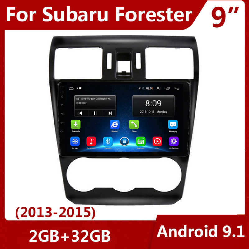 "9 ""2 DIN Android 9.1 Car Radio Multimedia Video Player 2din 2G + 32G Navigasi GPS untuk subaru Forester/Subaru XV 2013 2014 2015"