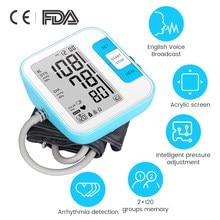 Upper Arm Blood Pressure Tonometer Digital Arm Blood Pressure Monitor Smart Blood Tensiometers for Measuring Arterial Pressure