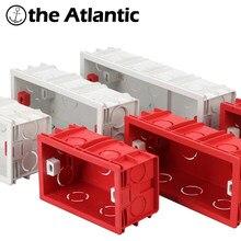 Eua au padrão caixa de montagem caixa de fiação de junção cassete interna caso interruptor de luz de parede caixa de volta dentro 120 154 197