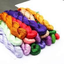 Fio bordado de seda 100%, linha em seda espiraea para bordado, pequenos varas de mão