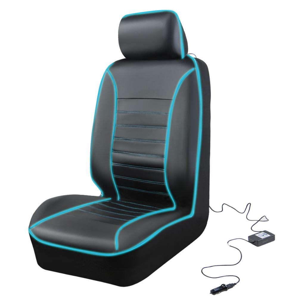 Car-pass Illuminated car seat cover with LED Light Driver Seat Protector Automobiles Interior Accessories Lighting Seat covers 5
