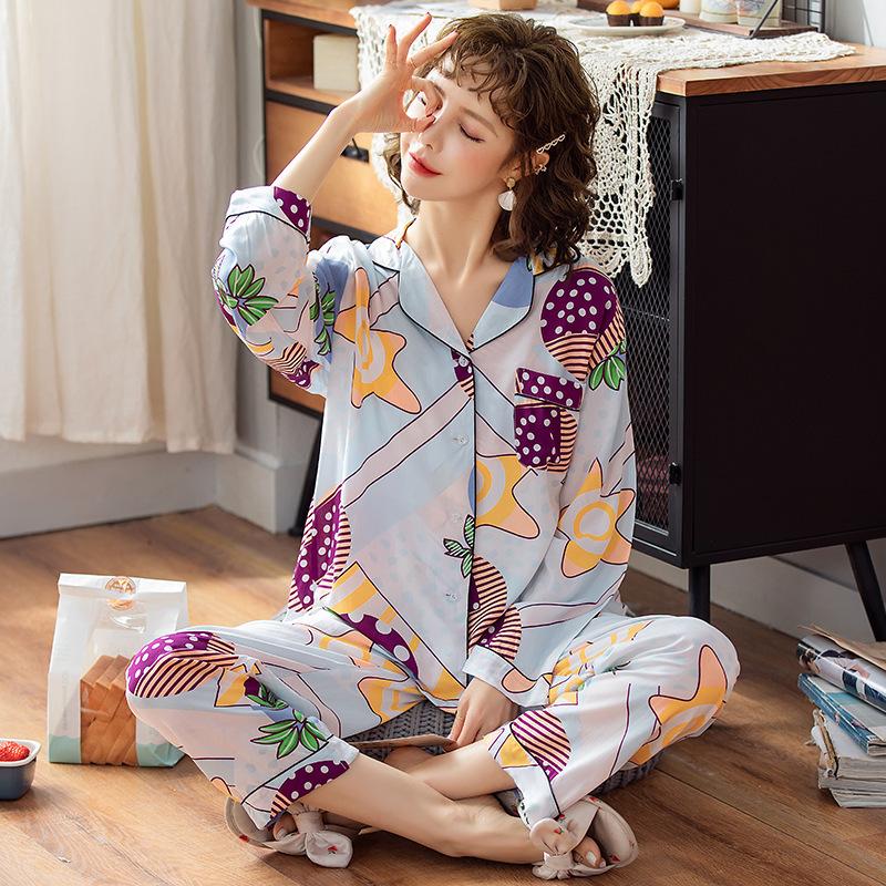 2020 New Women Clothes For Spring Pajamas Sets  Sleepwear Lovely  Pijamas Mujer Long Sleeve Cotton Textiles Sexy Pyjamas Female