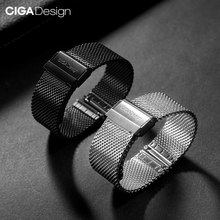 CIGA DESIGN Stainless Steel Watch Strap 22mm Universal For CIGA Mechanical Watches Men