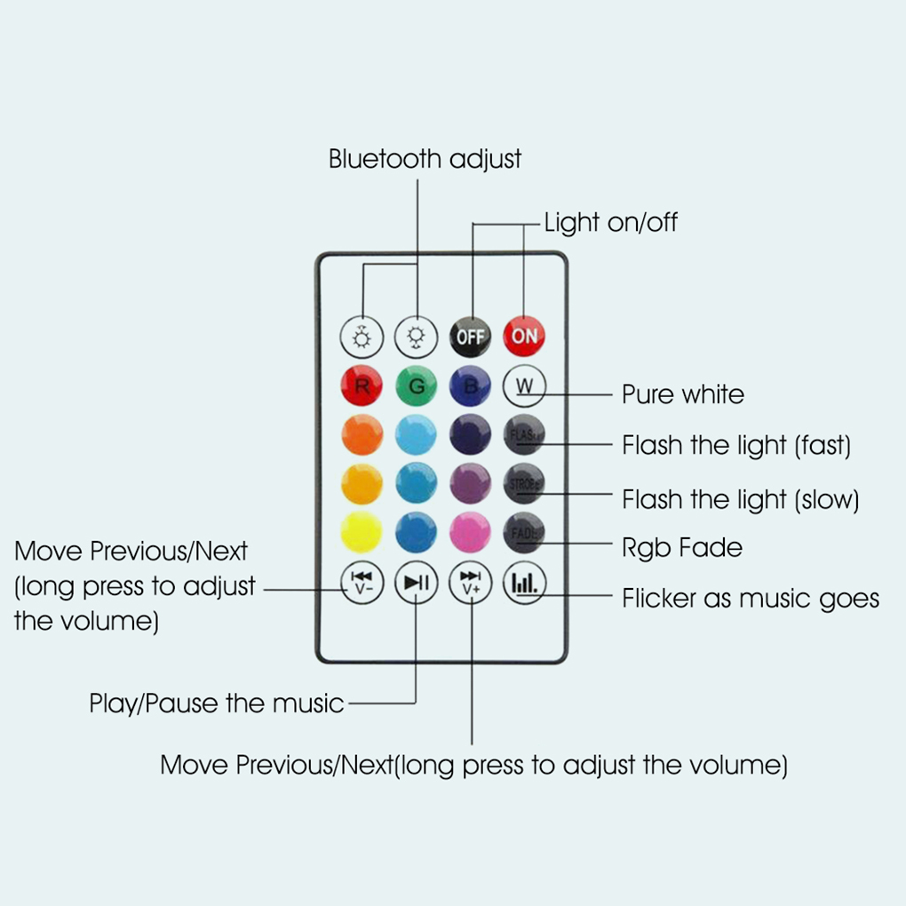 fase inteligente lâmpada de controle remoto música