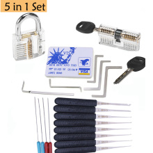 цена на 5pcs Stainless Steel Double Row Tension Tool Remove + 5pcs Mini Locksmith Tools Hide In James Bond Credit Card For Lock pick set
