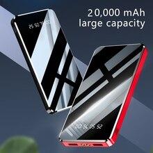 20000mAh Power Bank Paint Mirror External Battery 10000mAh F