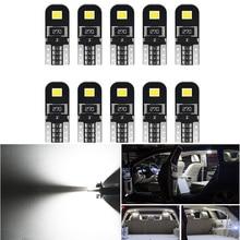 10 шт. W5W T10 светодиодный автомобильный светильник Canbus для Ford Mondeo MK4 MK1 MK3 Fiesta Focus 2 Explorer C Max F150 аксессуары