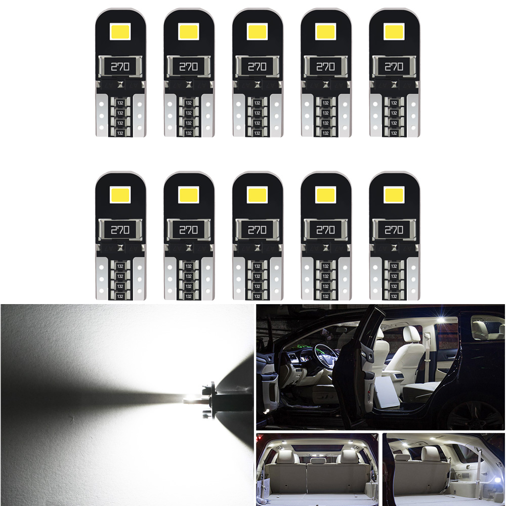 <font><b>10pcs</b></font> W5W <font><b>T10</b></font> LED Car <font><b>Canbus</b></font> Bulb Car Interior Light For Ford Mondeo MK4 MK1 MK3 Fiesta Focus 2 Explorer C Max F150 Accessories image
