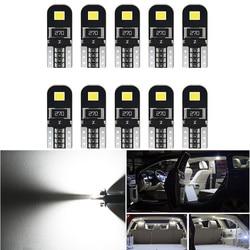 10pcs W5W T10 LED Car Canbus Bulb Car Interior Light For Ford Mondeo MK4 MK1 MK3 Fiesta Focus 2 Explorer C Max F150 Accessories