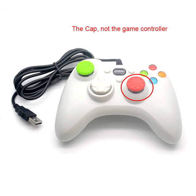 2Pcs Silicone Controller Joystick Thumb Stick Grip Cap Case Cover for PlayStation 4 PS4 PS3 PS2 PS 4 PS 3 PS 2 Xbox 360 One Game 1