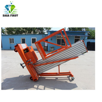 6m 10m Portable Work Platform Inclined Aluminum Lift