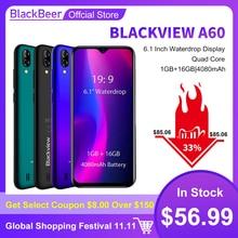 """מקורי Blackview A60 3G Smartphone 19:9 6.088 """"אנדרואיד נייד 4080mAh הסוללה 1GB 16GB ROM נייד טלפון 13MP + 5MP כפולה ה SIM"""