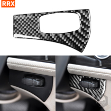 For BMW Z4 E89 2009 2016 Black Carbon Fiber Stickers Ignition Knob Switch Start Stop Position Frame Interiors Car Accessories