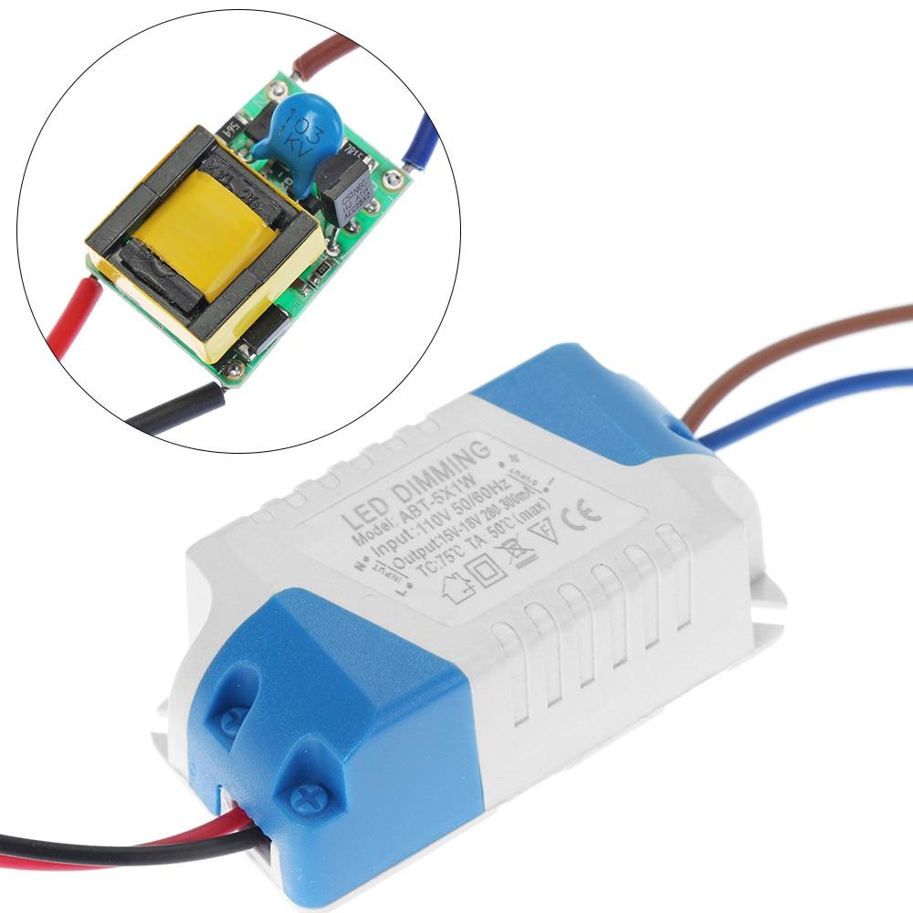 Светодиодный драйвер AAC 110 В 220 В постоянного тока, 3-15 Вт, 10-53 В постоянного тока, светодиодный трансформатор, 300 мА