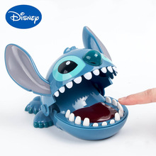 16cm Disney stich Bite Finger Figures Stitch Dentist Push Teeth Funny Game Model Toys Birthday Gifts for Kids baby toy gifts