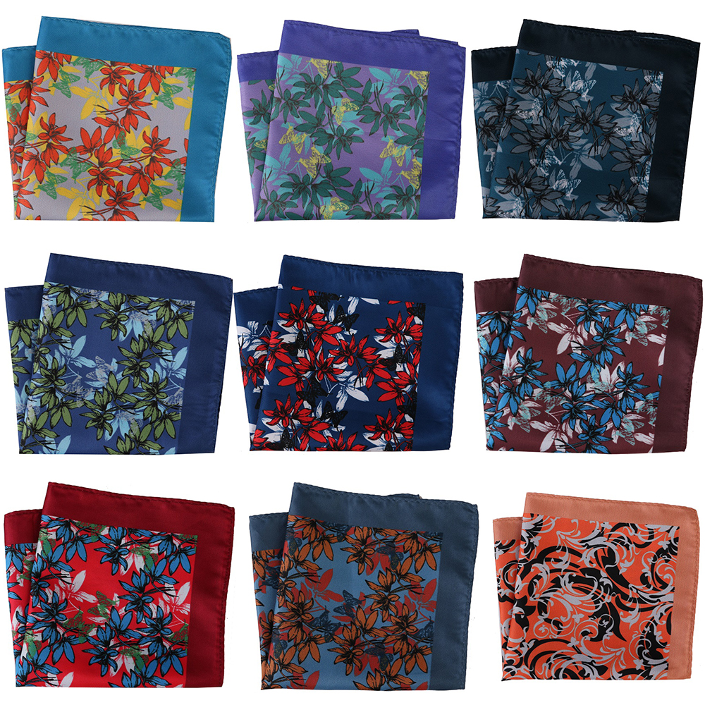 30CM Large Width Luxury Men Pocket Squares Men's Handkerchief Floral Paisley Mens Scarf Pocket Hankies Chest Towel Wedding Party