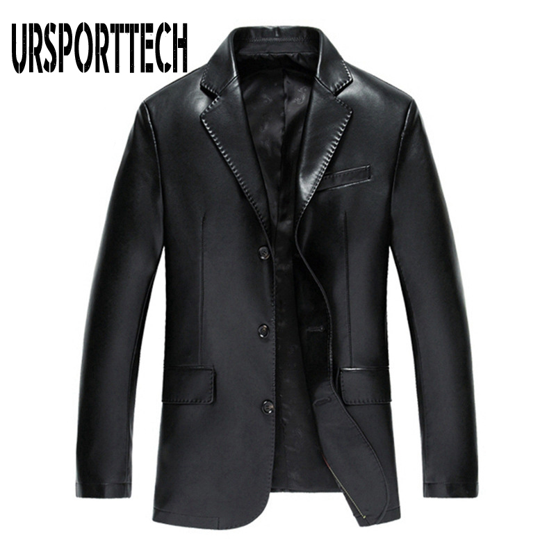 Brand Leather Jacket Men PU Jacket Male Business Casual Coats Man Autumn Casual Masculinas Inverno Couro Jacket Overcoat Men 3XL
