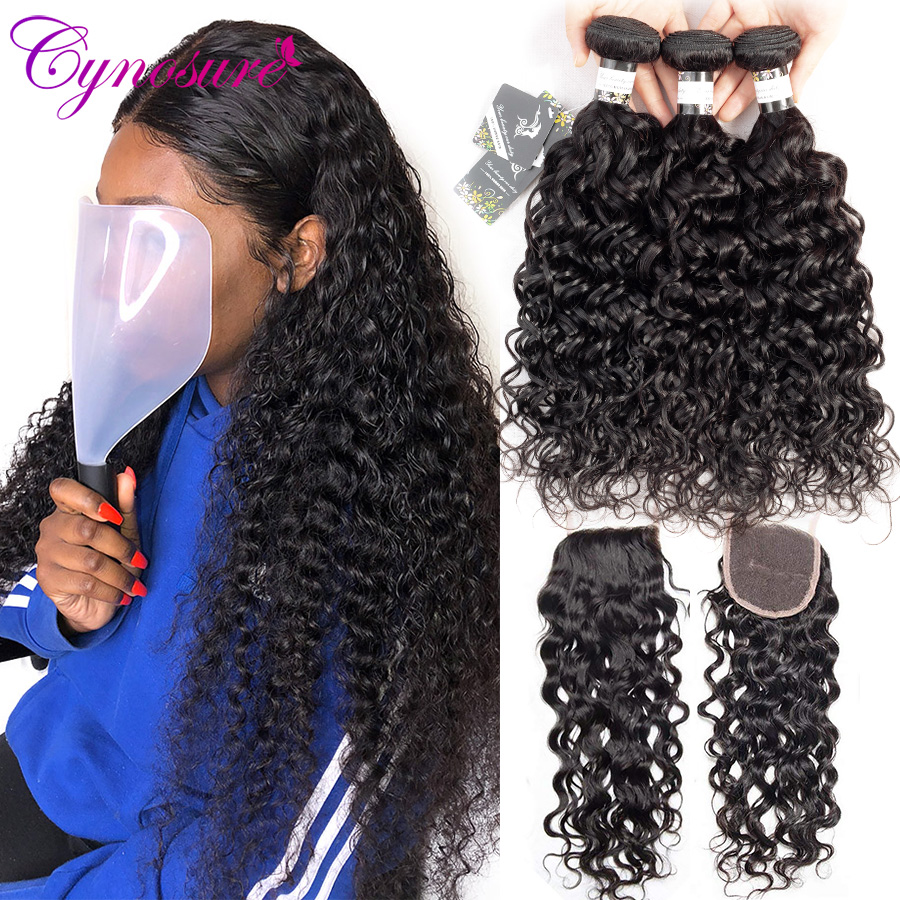 Cynosure Human-Hair Weave Water-Wave-Bundles With Double-Weft Remy