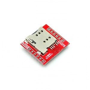 Image 3 - 100個gsmモジュール最小SIM800L gprs gsmモジュールmicrosimカードコアボードクワッドバンドttlシリアルポートarduino