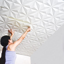 Ceiling decoration creative ceiling roof wall stickers paper self-adhesive 3D stereo soundproof waterproof