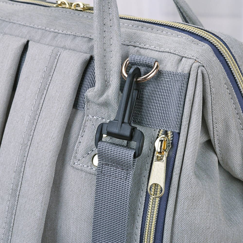 H0f562e5dafd244d2a632600f10d75e4eQ LEQUEEN Fashion USB Mummy Maternity Diaper Bag Large Nursing Travel Backpack Designer Stroller Baby Bag Baby Care Nappy Backpack