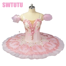 pink ballet tutu Sugar Plum Fairy Pancake Tutu Skirt performance adult ballerina costumes BT9055 цена в Москве и Питере