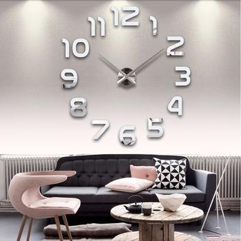 2021 nowy akryl lustro zegar ścienny Diy zegarek 3d naklejki ścienne duże dekoracyjne zegary kwarcowe nowoczesny Design tanie i dobre opinie Masi Rui CN (pochodzenie) Europa dswecx circular Metal 100cm Pojedyncze twarzy 1000mm 400g QUARTZ Zegary ścienne 12mm blachy