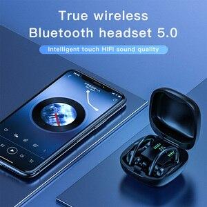 Image 2 - Sport Bluetooth Headset Wireless Exercise Earbuds TWS Earphones Bluetooth 5.0 Earphone With Microphone True Wireless HIFI Earbud