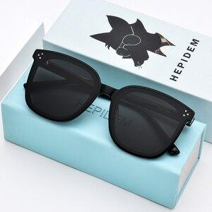 Image 1 - HEPIDEM Brand New Korean Design Women Gentle Sunglasses Cat Eye Sunglass Men Oversized Sun glasses for Women gm Jack Bye