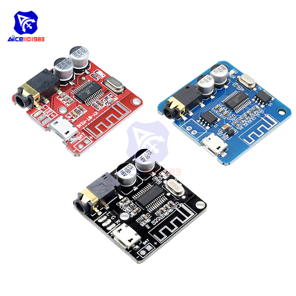 Diymore Micro USB MP3 Bluetooth 4.1/5.0 Car Speaker Amplifier Board Module Lossless Decoder Stereo Output Circuit Board 3.7V 5V