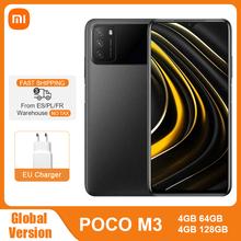 Globalna wersja POCO M3 4GB 64GB 128GB Smartphone Snapdragon 662 Octa Core 48MP potrójna kamera 6 53 #8222 FHD + ekran 6000mAh bateria tanie tanio XIAOMI Niewymienna CN (pochodzenie) Android Rozpoznawanie twarzy Adaptacyjne szybkie ładowanie english Rosyjski Niemieckie