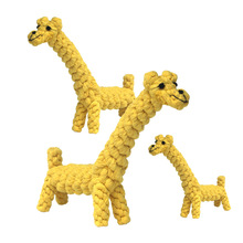 Pet dog toy cotton rope woven animal giraffe elephant bear dog bite clean teeth grinding environmental protection toy dog toy